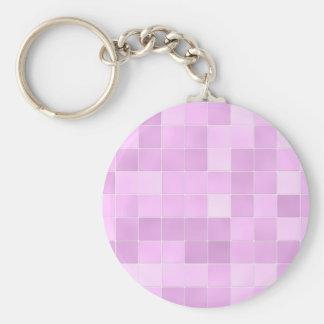 Bathroom Tiles Pink Basic Round Button Keychain