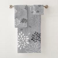 Bathroom Towel Set, Minimalist Pattern