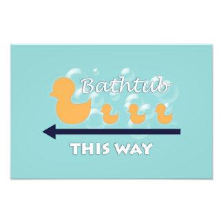 "Bathroom Wall Art ""Ducks in a row"" - Photo Print"