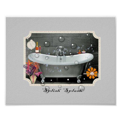 Bathroom wall decor vintage inspired art print zazzle - Vintage inspired wall art ...