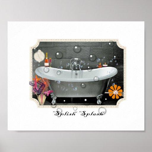 Vintage Wall Decor For Bathroom : Bathroom wall decor vintage inspired art print zazzle