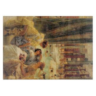 Baths of Caracalla by Lawrence Alma-Tadema Cutting Board