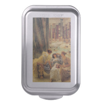 Baths of Caracalla by Lawrence Alma-Tadema Cake Pan