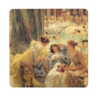 Baths of Caracalla by Lawrence Alma-Tadema Puzzle Coaster