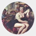 Bathsheba en la fuente de Rubens, Peter Paul (B Etiquetas Redondas