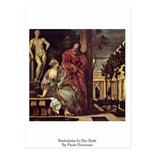 Bathsheba In Her Bath, By Paolo Veronese Postcard