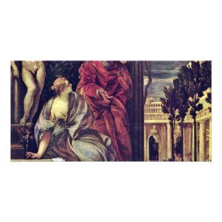 Bathsheba In Her Bath By Veronese Paolo Photo Card Template