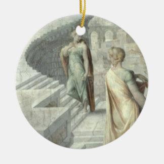 Bathsheba que visita a David, c.1553 Adorno Redondo De Cerámica