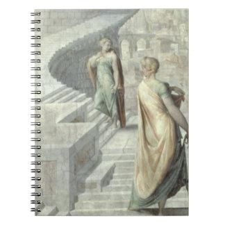 Bathsheba Visiting David, c.1553 Spiral Notebook