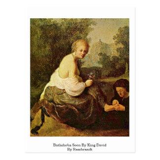 Bathsheba visto por rey David By Rembrandt Tarjeta Postal