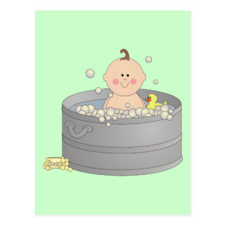 Bathtime Baby Postcard