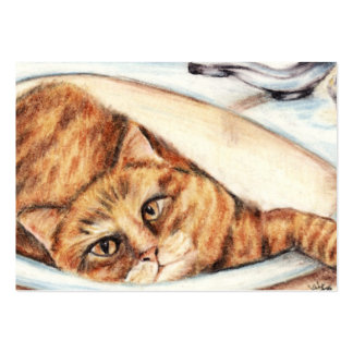 Bathtime (Cat) ACEO Art Trading Cards Business Cards