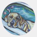 Bathtime de Labrador Etiquetas Redondas