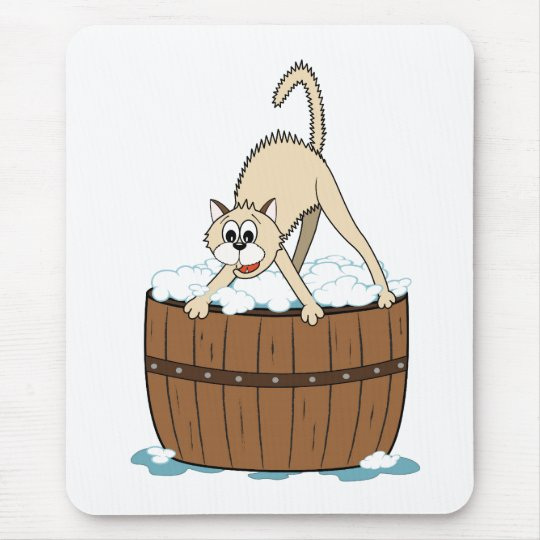 Bathtime for kitty mouse pad