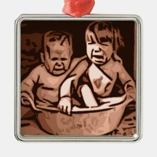 Bathtime Metal Ornament