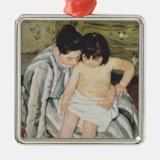 Bathtime Mother and Child Metal Ornament