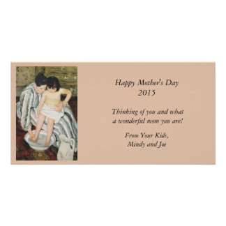 Bathtime Mother and Child Photo Card