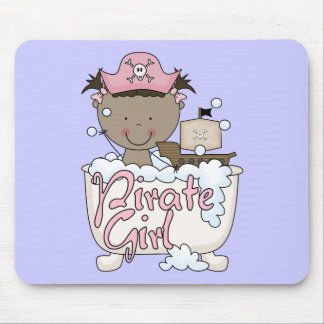 Bathtub African American Pirate Girl Tshirts Mouse Pad