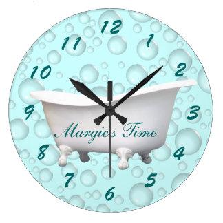 Bathtub & Bubbles Clock- customize & personalize Clock