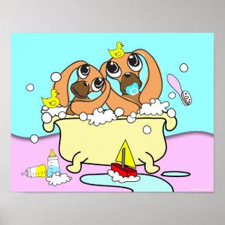 Bathtub Dachshund Puppy Poster 15