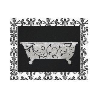 Bathtub in Black and White Canvas Print