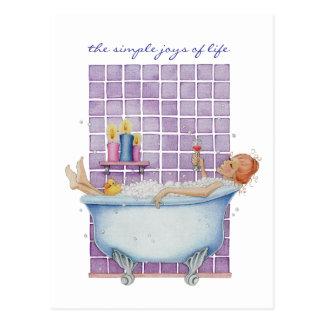 Bathtub Joy Postcard