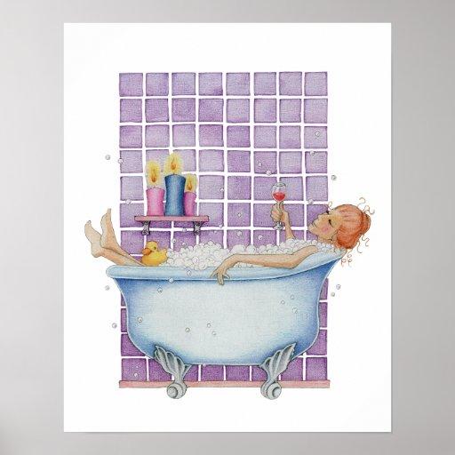 Bathtub Joy Poster