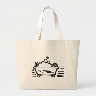 Bathtub Large Tote Bag