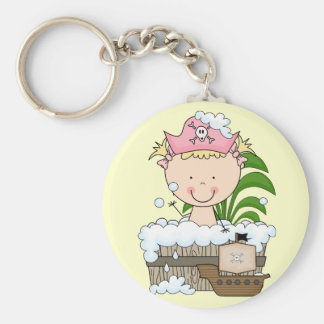 Bathtub Pirates - Blond Girl Tshirts and Gifts Keychain