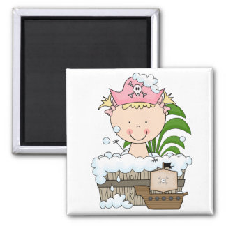 Bathtub Pirates - Blond Girl Tshirts and Gifts Magnet