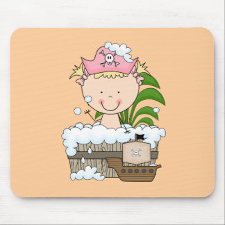 Bathtub Pirates - Blond Girl Tshirts and Gifts Mouse Pad