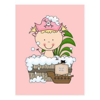 Bathtub Pirates - Blond Girl Tshirts and Gifts Postcard