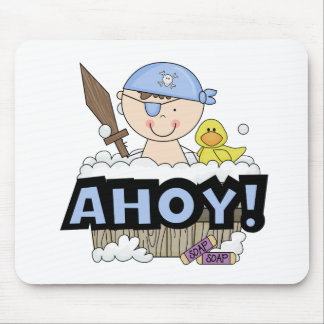 Bathtub Pirates - Brunette Boy Tshirts and Gifts Mouse Pad