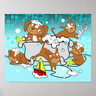 Bathtub Puppy Poster 1