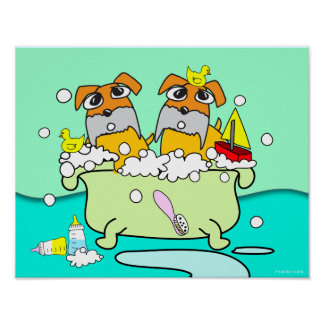 Bathtub Puppy Poster 17