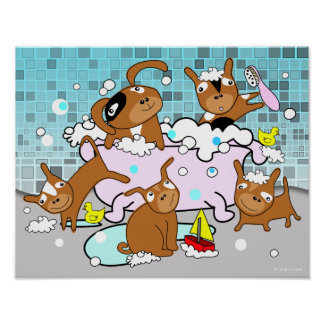 Bathtub Puppy Poster 2