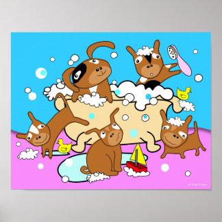 Bathtub Puppy Poster 6