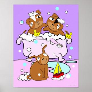 Bathtub Puppy Poster 7