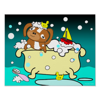 Bathtub Puppy Poster 9