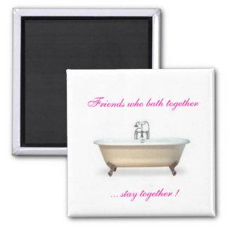 Bathtube Love 2 Inch Square Magnet
