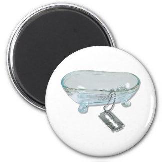 BathtubRazorBlade092110 2 Inch Round Magnet