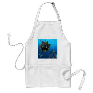 Bathysphere in the Ocean Depths Adult Apron
