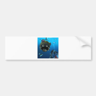 Bathysphere in the Ocean Depths Bumper Sticker