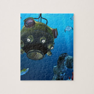 Bathysphere in the Ocean Depths Jigsaw Puzzle