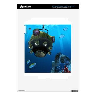 Bathysphere in the Ocean Depths Skin For iPad 3