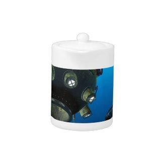 Bathysphere in the Ocean Depths Teapot