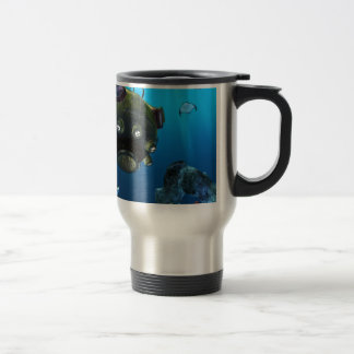 Bathysphere in the Ocean Depths Travel Mug
