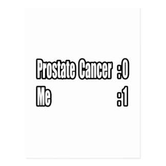 Batí al cáncer de próstata (el marcador) tarjetas postales