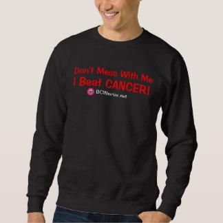 Batí la camiseta del cáncer sudadera