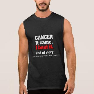 Batí la victoria de Cancer.Customizable. El cáncer Playera Sin Mangas